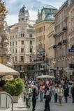 Rua de Graben, Viena fotografia de stock