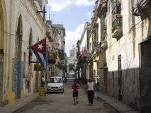 Rua de Havana Fotos de Stock Royalty Free