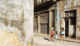 Rua de Havana, Cuba Fotografia de Stock Royalty Free