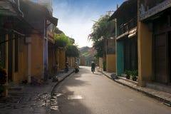 Rua de Hoi An eraly na manhã Fotografia de Stock