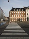 Rua de Homens Kanal, Copenhaga Imagens de Stock