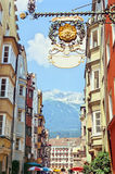 Rua de Innsbruck Fotografia de Stock