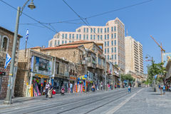 Rua de Jaffa do Jerusalém Imagens de Stock