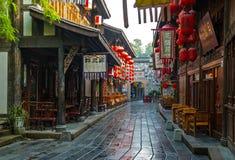 Rua de Jinli foto de stock