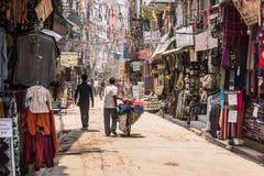 Rua de Kathmandu, distrito do turista nepal fotografia de stock royalty free