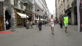 Rua de Kohlmarkt em Viena vídeos de arquivo