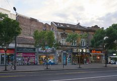 Rua de Kralja Milana em Belgrado Fotografia de Stock Royalty Free