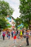 Rua de Krupowki em Zakopane, Polônia Fotos de Stock Royalty Free
