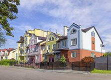 Rua de Kurortnaya Kaliningrad, Rússia fotografia de stock royalty free