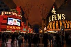 Rua de Las Vegas Fremont Fotografia de Stock Royalty Free