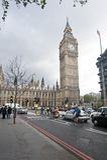 Rua de Londres, torre de pulso de disparo de Big Ben Imagem de Stock
