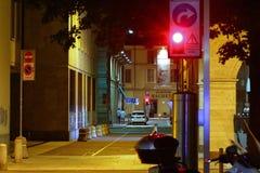 Rua de Lugano, Suíça, na noite Fotos de Stock Royalty Free