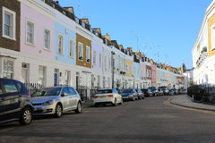 Rua de luxo colorida de Londres Foto de Stock