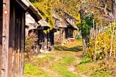 Rua de madeira histórica Ilica das casas de campo Foto de Stock