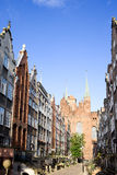 Rua de Mariacka em Gdansk Fotografia de Stock