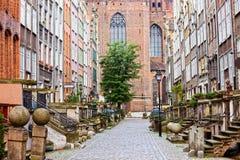 Rua de Mariacka em Gdansk Fotos de Stock