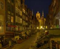 Rua de Mariacka em Gdansk, Poland. Fotografia de Stock