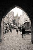 Rua de Mary em Gdansk Foto de Stock
