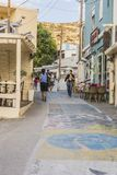 Rua de Matala Fotografia de Stock