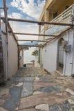 Rua de Matala Foto de Stock Royalty Free