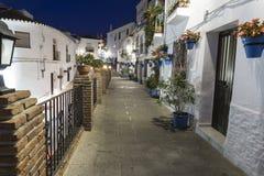 Rua de Mijas na noite Costa del Sol andalusia fotografia de stock royalty free