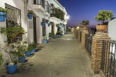 Rua de Mijas na noite Costa del Sol andalusia fotografia de stock