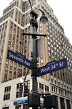 A rua de New York canta Fotografia de Stock Royalty Free