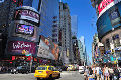 Rua de New York City Manhattan 42nd Imagens de Stock