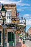 Rua de Nova Orleães Bourbon foto de stock