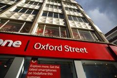 Rua de Oxford em Londres Fotografia de Stock