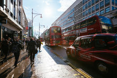 Rua de Oxford, Londres, 13 05 2014 Fotografia de Stock Royalty Free