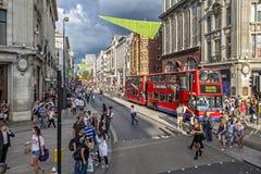 Rua de Oxford, Londres Fotos de Stock Royalty Free