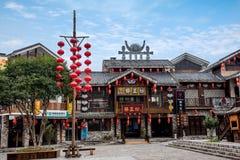 Rua de pano do rio de Hunan Zhangjiajie Wulingyuan Fotos de Stock Royalty Free