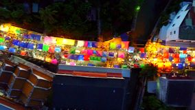 Rua de passeio de Maesot Opinião de Birdeye vídeos de arquivo