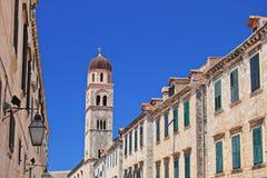 Rua de passeio principal em Dubrovnik, Croatia Fotos de Stock