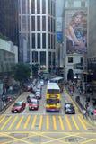Rua de Pedder, Hong Kong Island Foto de Stock Royalty Free