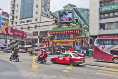 Rua de Petaling, Kuala Lumpur, Malásia Imagens de Stock Royalty Free