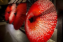 Rua de Pontocho, Kyoto, Japão Fotos de Stock