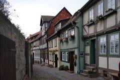Rua de Quedlinburg imagem de stock royalty free