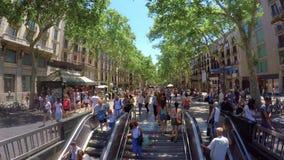 Rua de Rambla do La, Barcelona, Catalonia, Espanha vídeos de arquivo