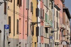 Rua de Saffi, parma foto de stock
