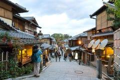 Rua de Sannen-Zaka, Kyoto Fotos de Stock