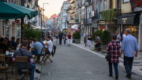 Rua de Santa Catarina - it is the artery of best shopping of Downtown Porto. Stock Photo