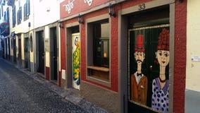 Rua de Santa Maria, Funchal, Madeira Stock Images