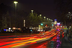 Rua de Schwalbacher em Wiesbaden germany Fotos de Stock