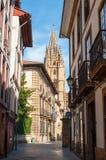 Rua de segunda-feira, Oviedo Fotos de Stock Royalty Free