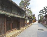 Rua de Shinmachi, OMI-Hachiman, Japão Fotografia de Stock