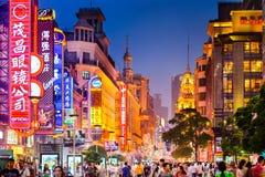 Rua de Shoppping em Shanghai Imagem de Stock
