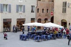 Rua de Siena velha, Toscânia, Itália Foto de Stock Royalty Free