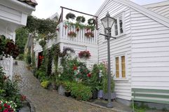 Rua de Stavanger Fotos de Stock Royalty Free